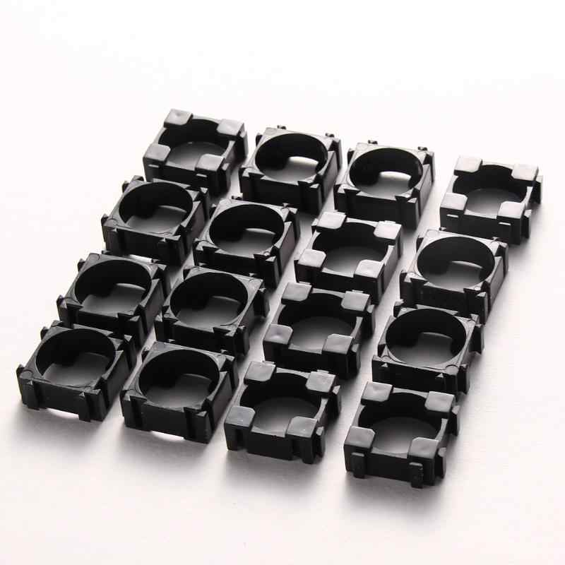 100pcs 18650 Battery Holder Storage Box Bracket Li-ion Cell Holder Cylindrical Safety Anti Vibration Plastic Case Plastic Black