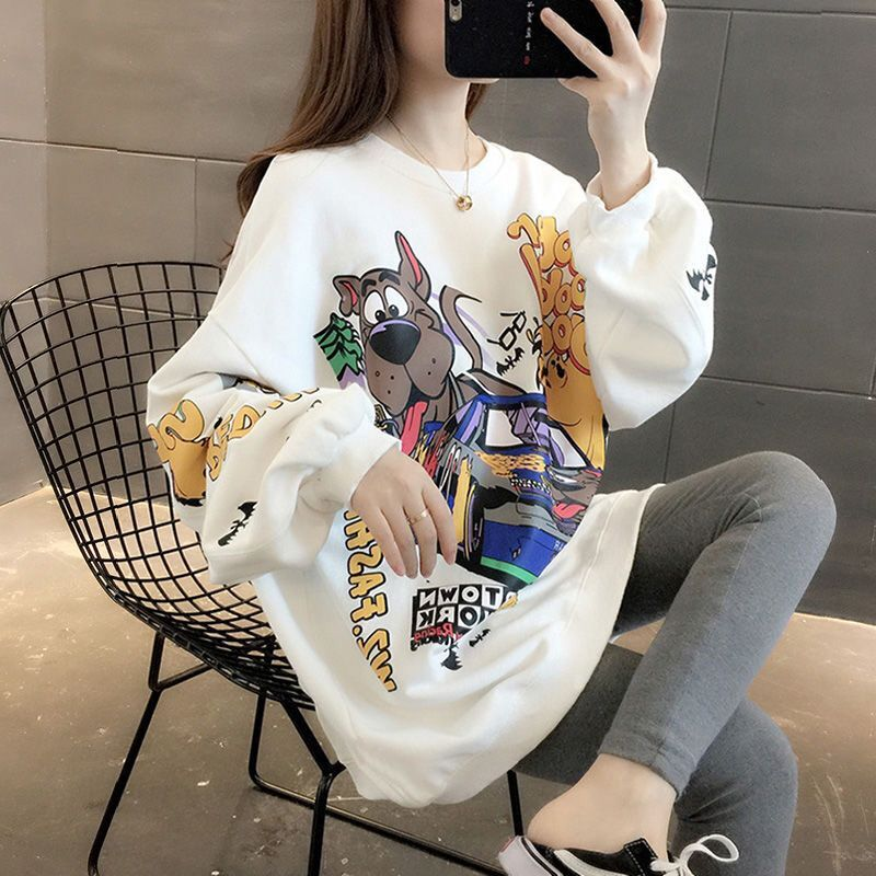 Women Sweatshirt Full Sleeve Letter Print Hooded Pullover Loose Thickened Female Jumper Tracksuit Sweat Coat Casual Streetwear