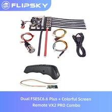 Dual FSESC6.6 Plus + หน้าจอสีสันRemote VX2 PRO ComboสำหรับElectric Speed Controller Flipsky Longboard DIYอุปกรณ์เสริม
