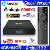 X96 Air TV Box Android 9.0 MAX 4GB 64GB Amlogic S905X3 Smart TV Box 4K TV Android Box X96Air Quad Core 2.4G&5G Wifi BT4.1 H.265