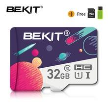 Bekit tarjeta Micro SD 100% Original de 8gb 16gb 32gb 64 gb 128gb 256gb Class10 tarjeta de memoria Mini microsd cartao de memoria de U1/U3 para teléfono