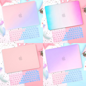 Redlai Gradient Matte Plastic Hard Case for New MacBook Air Pro 2020 2019 2018 13 inch Retina 13.3 15.4 Touch bar A2179 A1932