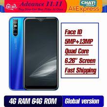 9A Globale version smartphones 32G/64G ROM 4 GRAMM wasser tropfen bildschirm 6,26 zoll 13mp gesicht id entsperrt moble handys celulares 4G LTE
