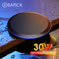 Bapick 30 Вт Qi Беспроводное зарядное устройство для IPhone 11 pro xs max xr, Samsung S20, xiaomi mi 10
