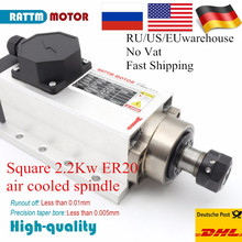 Spindle-Motor Ceramic-Bearing Square Air-Cooled High-Quanlity ER20 220V 24000rpm Runout-Off