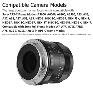 Image 3 - Andoer 50mm F1.8 Digital Camera Lens Large Aperture APS C Mirrorless Camera Len for Sony Olympus Fujifilm Fuji Canon ILDC Camera
