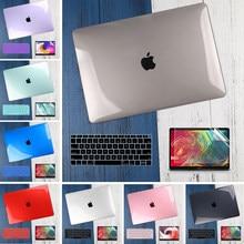 3 em 1 caso do portátil para macbook air 11 13 polegada & pro retina 16 13.3 15 2019 2020 cristal fosco capa de casca dura teclado pele