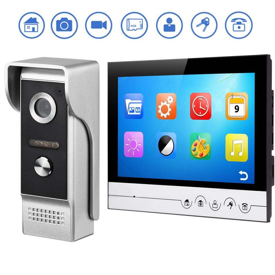 Intelligent video doorbell 7/9 inch color HD video intercom doorbell support photo video doorbell kit