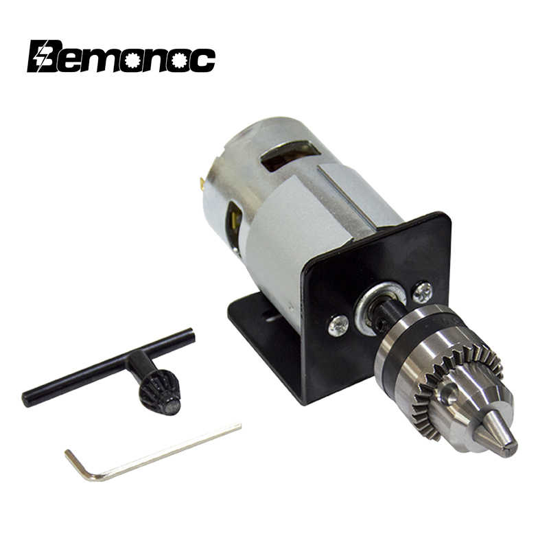 555 Motor de corriente continua torno de Taladro de mano con soporte de montaje 12-36V Fresadora Industrial