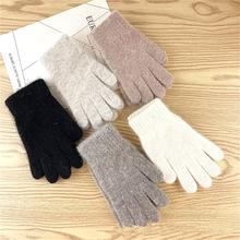 Rękawiczki damskie zimowe śliczne pluszowe ciepłe rękawiczki jeździeckie rękawiczki damskie damskie rękawiczki damskie zimowe rękawiczki zimowe rękawiczki damskie tanie tanio Dla dorosłych CN (pochodzenie) Unisex CASHMERE Stałe Nadgarstek Moda Warm Adult China WOMEN Wrist Item Type Gloves Fashion
