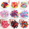 50/100pcs Baby Girls Colorful Small Elastic Hair Bands Children Ponytail Holder Kids Headband Rubber Band Hair Accessories 1