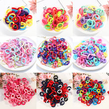 50/100pcs Baby Girls Colorful Small Elastic Hair Bands Children Ponytail Holder Kids Headband Rubber Band Hair Accessories