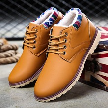 YeddaMavis Brown Men Boots Genuine Leather Lace-up Men Shoes Vintage British Men Snow Boots Autumn Winter Men Casual Ankle Boots british style men ankle boots genuine leather vintage boots autumn male shoes motorcycle boots 022 page 3