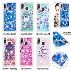 Image 1 - Glitter Bumper Phone Case For Samsung Galaxy Note 10 Note10 Plus M20 M10 M30 A30 A50 A40 A20 A10 Liquid Quicksand Soft TPU Cover