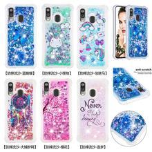 Блестящий чехол бампер для телефона для samsung Galaxy Note 10 Note10 плюс M20 M10 M30 A30 A50 A40 A20 A10 зыбучих песков с блестками Мягкий ТПУ чехол с мультипликационным рисунком