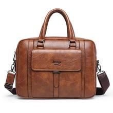 Vintage PU Leather Men's Briefcase Handbag High Quality Male Laptop Business Bag Purse