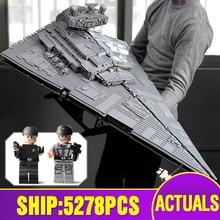 81098 Звездные игрушки, войны, совместимые с Legoing 75252, имперский Звездный комплект эсминца, строительные блоки, кирпичи, детские рождественские игрушки, подарки