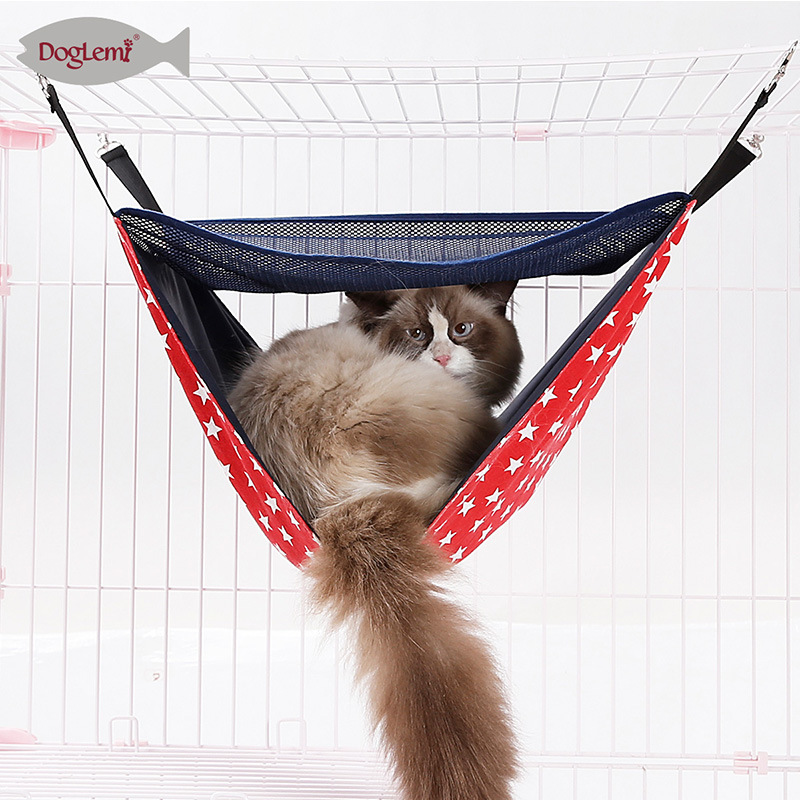 Manufacturers Direct Selling Winter Summer Double Layer Cat Hammock Nest Pad Cross Border New Style Cat Cage Second Layer Swing