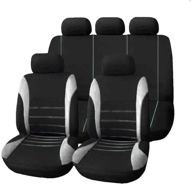 Funda universal para el asiento del automóvil, protector de cojín ajustado, transpirable, de poliéster, compatible con la mayoría de coches, camiones, SUV o furgonetas, accesorios de interior