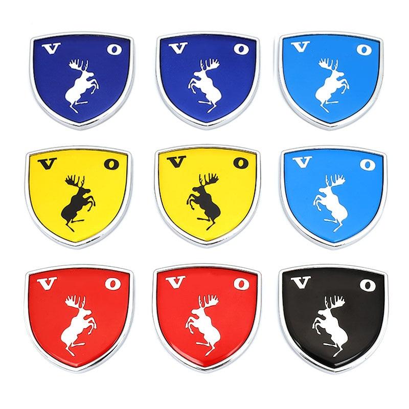 Badges décoratifs 3D en forme de cerf en vrac, autocollants automobiles, pour Volvo Ocean V40 V60 V90 XC60 XC90 XC40 S60 S90 S80 C30