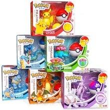 Pokemon elf bola brinquedo conjunto pikachu lunala charizard figura de ação modelo pokemon elf-bola transformável brinquedo crianças presente do dia das bruxas