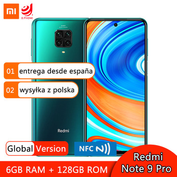 Перейти на Алиэкспресс и купить Глобальная версия Xiaomi Redmi Note 9 Pro 64 Гб 128 Гб Смартфон Snapdragon 720G 64MP Quad задние камеры 5020 мАч NFC мобильный телефон