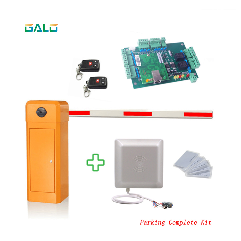 Automatic Barrier For Parking Systemand Toll System With UHF Readers Cards Control Center Complete Kit