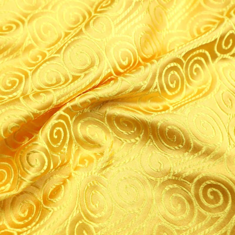 النمط الياباني سحابة نمط الجاكار النسيج الذهبي الساتان الديباج قماش خياطة شيونغسام و غطاء أريكة JA34
