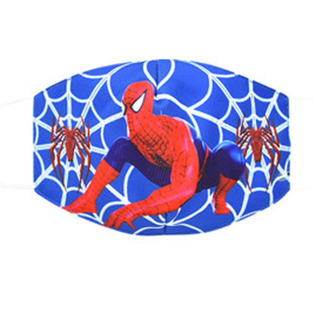 2020 New Cartoon Spiderman Mask Women Men Kids Cotton Breathable Auti-Dust Half Mouth Face Masks Supplies ZXT220 5