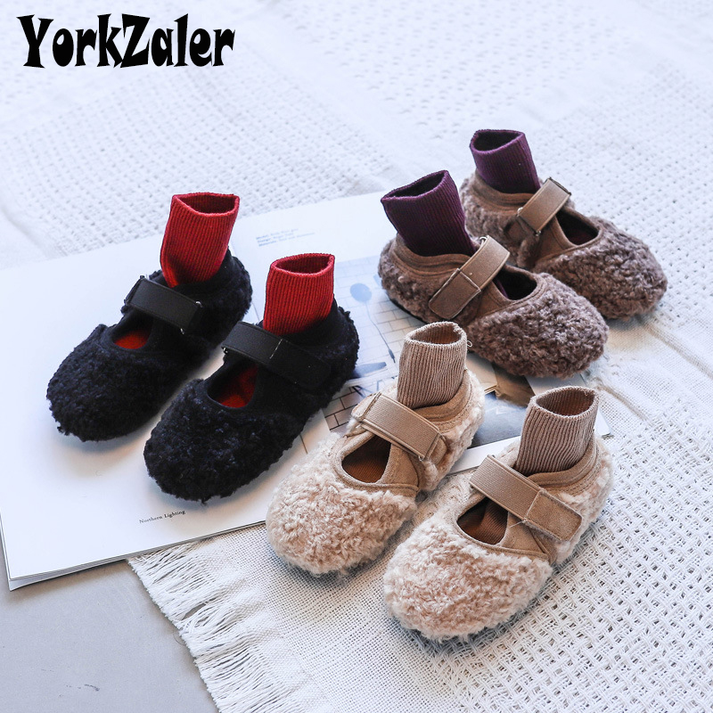 Yorkzaler Autumn Winter Kids Casual Shoes For Girl Warm New Fashion Children Shoes Girl Boy Breathable Shoes Footwear Size 21-35