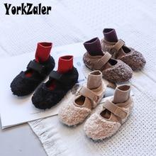 Yorkzaler Autumn Winter Kids Casual Shoes For Girl Warm New Fashion Children
