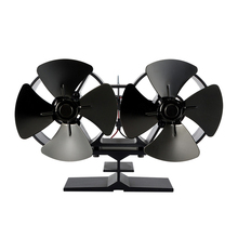 8 лезвий высокая термостойкость Домашняя Плита вентилятор зима анодированный алюминий мини двойная головка принадлежности для горелки портативный