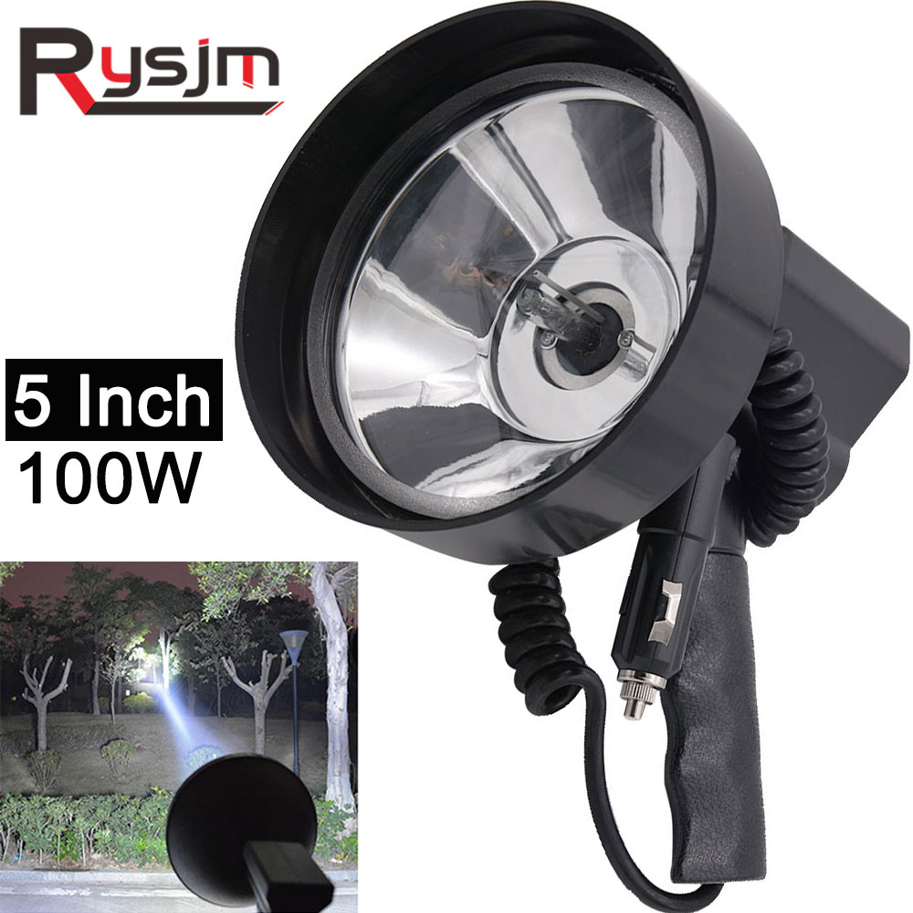 "Portable LED 5/"" Search Light Lantern Handheld Spotlight Rechargeable Light 1000W"