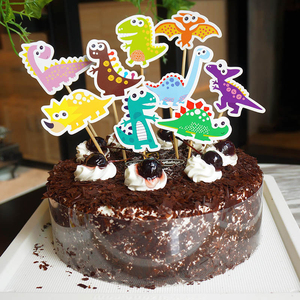 Image 4 - لوازم حفلات الديناصور لدينو كعكة القبعات العالية بالونات الديناصورات ملصقات الوشم ديكور ديناصور ديكور الحدث لوازم الحفلة للأطفال