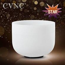 """CVNC рождественские подарки 1"""" Chakra Note C D E F G A B C# D# F# G# A# любой Поющая чаша из матового кварца"""
