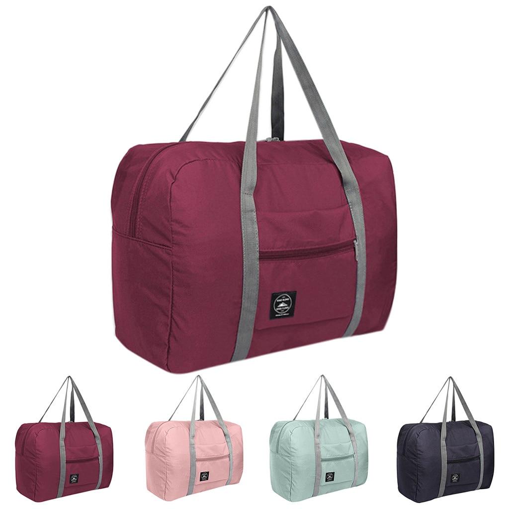 Waterproof Nylon Travel Bags Women Men Large Capacity Folding Duffle Bag Organizer Packing Cubes Luggage Girl Weekend Bag#P