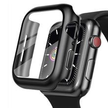 Cover For Apple Watch case 44mm 40mm bracelet Tempered Glass iWatch case 42mm 38mm correa for apple watch series 6 5 4 3 2 1 se