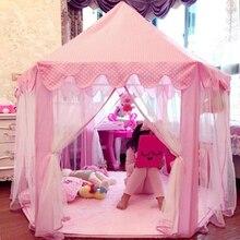 Cabane de jardin pour enfants princesse rose château tissu tentes Lodge filles garçons extérieur pliant tente de jeu Lodge enfant balle piscine Playhouse