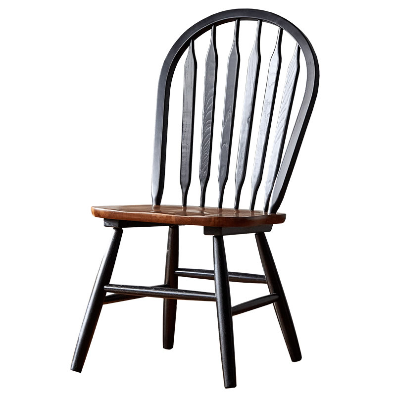 North American Town Full Solid Wood Windsor Chair Home American Dining Chair Ins Net Red Retro Country Back Table Chair