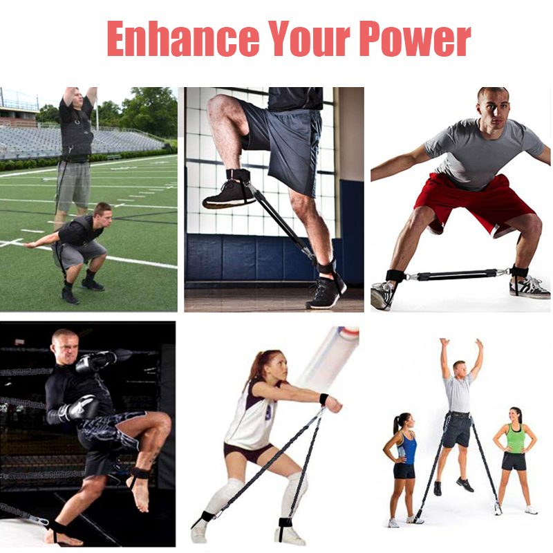 Workout Power 140lbs Resistance Band Boxing Endurance Agility Pull Rope Crossfit Rubber Band Basketball Training Resistance Rope 4