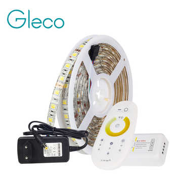 LED STRIP 5050 SET 2 IN 1 White+Warm white LED Strip Light 5050 CWW with 2.4G RF CCT Controller, 12V Power Supply EU Plug - DISCOUNT ITEM  20% OFF All Category
