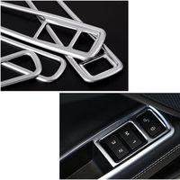 4Pcs Painel Interruptor Da Janela Do Lado Do Carro Guarnição Cobertura Para Jaguar XE 2015-2018 decoração Do Carro acessório Do Carro Durável protetor de Maçaneta da porta