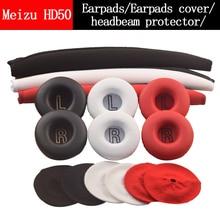 Replacement Ear Pad Pillow Earpads Dust Cover Headbeam Cushion Protector for Meizu HD50 HD 50 HIFI Headphone Headset buckle Clip original meizu hd50 pk xiaomi headband headphone