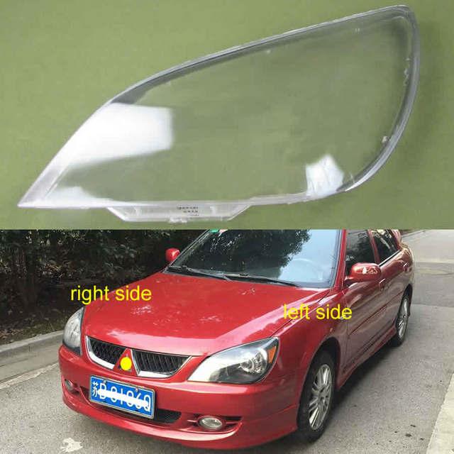 Para mitsubishi lancer 2007 2008 2009 2010 2011 farol escudo capa abajur transparente lente de vidro