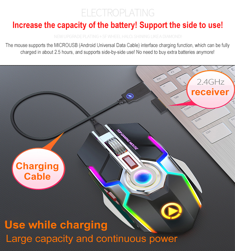 Mouse use while charging