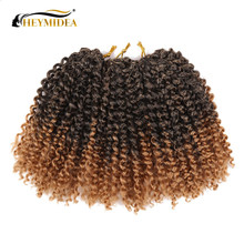 Marlybob Synthetic Crochet Braiding Hair 8Inch 20Inch Ombre Twist Wigs for Black Women Afro Extensions HEYMIDEA cheap High Temperature Fiber CN(Origin) Marley Braids 20strands pack 1B T30 T27 TBug #33 8Inch 10Inch 20Strands piece 60strands pack