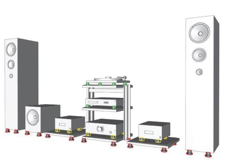 HIFI Audio Ausrüstung Edelstahl Lautsprecher CD Power verstärker füße pad 30MM * 38,5 MM