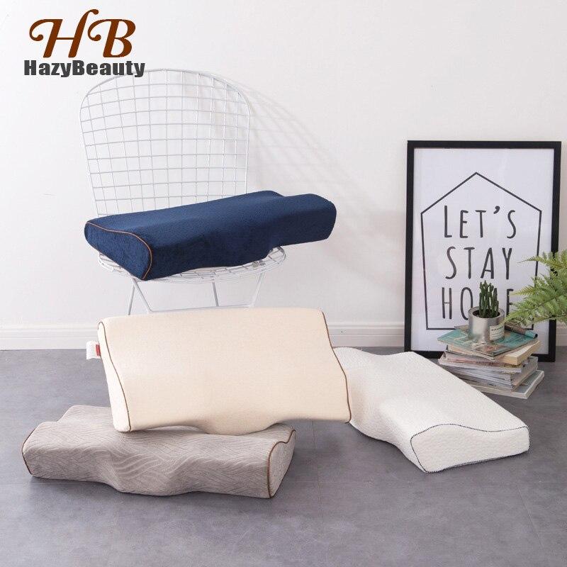 Confortável almofadas ortopédicas cervicais látex pescoço cuidados espuma de memória dormir quarto travesseiro cabeça pescoço suporte travesseiro