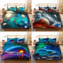 Homesky Luxury Planet Bedding Set Super King Duvet Cover Sets 2 3pcs Space Single Queen Size