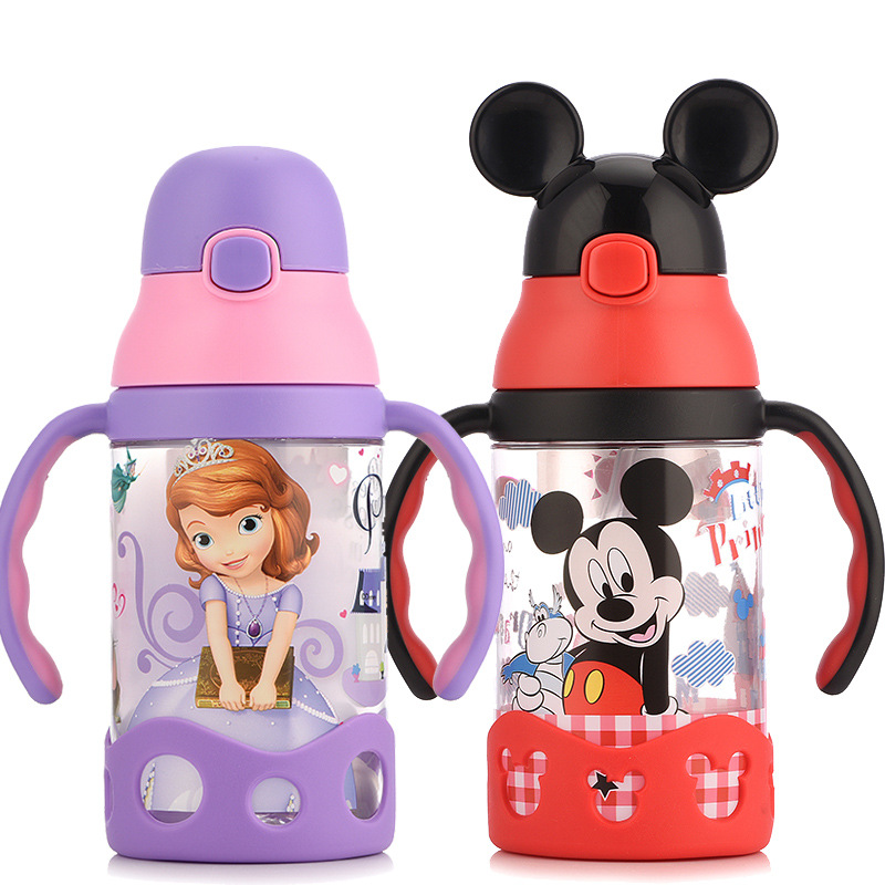 Disney Baby Cup Children's Sippy Cup Learn To Drink Cup Baby Kettle Leak-proof Baby Drink Cup With Handle Water Bottle Baby Cup